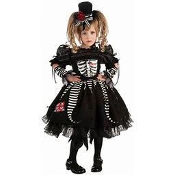 Girls Bones Costume, Girl's, Size: Toddler