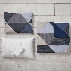 Huntley Patch Quilt Bundle Set, Basic Bundle, Full, Blue