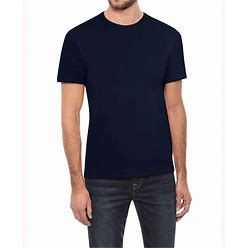Men's Basic Crew Neck Short Sleeve T-Shirt - Navy