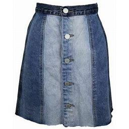 Blank Nyc Skirts | Blanknyc Raw Hem Denim Panel Skirt Sz 31 Nwt $98 | Color: Blue | Size: 31