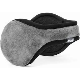 180's Degrees By 180s Mens Suburban Faux Suede Ear Warmer, Men's, Size: One Size, Silver