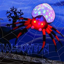 Decorx 8 Foot Inflatables Halloween Spider With Magic Light For Halloween Yard Decor Indoor/Outdoor Decorations (8 Foot Inflatables Halloween Spider,