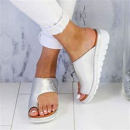 Aetomce Women Comfy Platform Sandal Shoes, Summer Beach Travel Shoes Fashion Sandals Comfortable Ladies Shoes, Simple And Elegant Design, Worn With