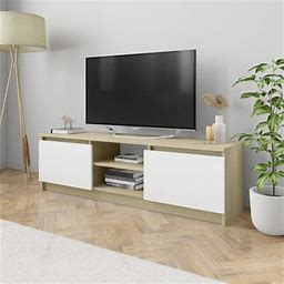 Greensen TV Cabinet Concrete Gray 47.2 Inchx11.8 Inchx13.9 Inch Chipboard Entertainment Centers & TV Stands New