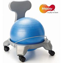 Weplay Ball Chair Large With Locking Casters KE0311, Clrs
