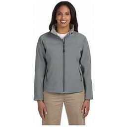 Devon & Jones Ladies Soft Shell Zippered Jacket, Style D995w, Women's, Size: 2XL, Gray