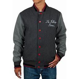 Rolling Stones - Tongue Varsity Jacket - Large, Men's, Gray