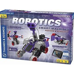Thames & Kosmos | Robotics Smart Machines: Rovers & Vehicles | Kids 8+ | STEM Kit Builds 8 Robots | Color Manual To Help With Assembly | Requires