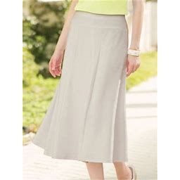Women's Everyday Knit Long Skirt, Stone Grey XL Misses, Appleseed's