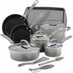 Rachael Ray 14-Pc. Nonstick Cookware Set, Created For Macy's - Sea Salt Gray