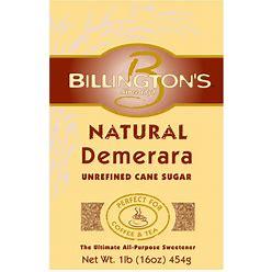 Billington's Natural Demerara Unrefined Cane Sugar, 1 LB (Pack Of 10)