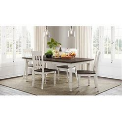 Jofran Madison 5 - Piece Extendable Pine Solid Wood Dining Set Wood In White, Size 30.0 H In | Wayfair