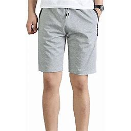AMaVo Men Casual Elastic Waisted Beach Jogging Sports Gym Casual Running Shorts Fitness Gym Crop Pants Sports Jogging Beach Trousers, Men's, Size: 5XL