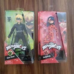Zag Toys   Miraculous Ladybug And Cat Noir Dolls   Color: Black/Red   Size: Osbb