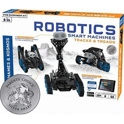 Thames & Kosmos | Robotics Smart Machines: Tracks & Treads | For Kids 8+ | STEM Kit Builds 8 Robots | Color Manual To Help With Assembly | Requires