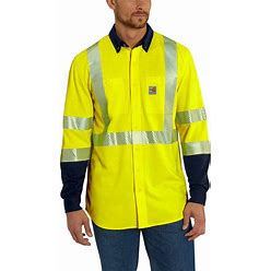 Carhartt Flame-Resistant High-Visibility Force Hybrid Shirt-Class 3 | Brite Lime