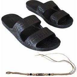 Sandal Hawaii Hawaii Brown Or Black Jesus Sandal Slipper For Men Women And Teen Classic Style With Natural Hemp Bracelet (Women Size 12 /men Size 10,