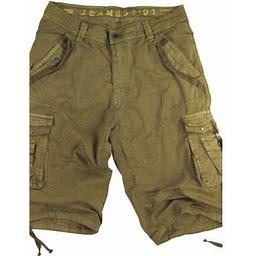 Stone Touch Jeans Mens Khaki Cargo Shorts Military A8s Size:30, Men's, Beige