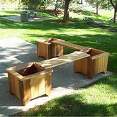 Wayfair Brashear Wooden Planter Bench Wood In Brown, Size 18.25 H X 160.0 W X 21.0 D In