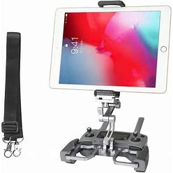 Rcgeek Compatible With Dji Mavic Mini Mavic 2 Pro/Zoom Spark Drone Remote Controller 10 Inch Tablet Mount Extender Holder With Lanyard Fit For Crystal Sky Monitor (Grey)