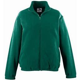 Augusta Sportswear Chill Fleece Full ZIP Jacket D.green 2XL, Adult Unisex