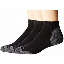 Carhartt Mens Cotton Low Cut Work Socks 3-Pack