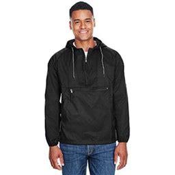 Harriton Adult Packable Nylon Jacket, Men's, Size: Large, Black