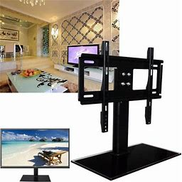 Hurrise Universal Tabletop TV Stand With Mount For 31 To 55 Inch Samsung TCL Vizio LED LCD Flat Screen TV Universal Fit, Tilt, Articulating, Size: 37,