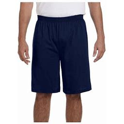 Augusta Sportswear Men's Longer Length Jersey Short, Style 915, Size: Small, Blue
