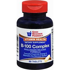 Gnp Vitamin B-100 Complex Supplement Prolonged Release Tablets 50 Ct (1-3 Units)
