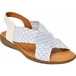 Comfortview Women's Wide Width The Celestia Sling Sandal Sandal, Size: 8 W, Silver