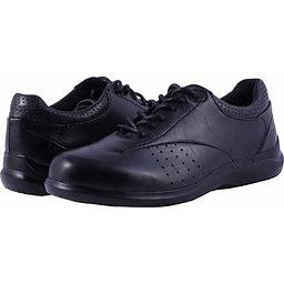 Aravon Farren Women's Lace Up Casual Shoes Black Leather : 8.5 WW (EE)