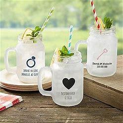 Personalized Wedding Mason Jar Glasses