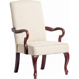 Copper Grove Casalis Cherry Finish Gooseneck Accent Chair - See Product Description