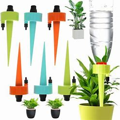 Automatic Plant Self Watering Devices Spikes Irrigation Drippers With Slow Release Control Valve Switch For Vacation To Care Your Home Plants,