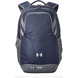 Under Armour Hustle II Backpack Custom Embroidered Logo - Navy - One Size - Sample
