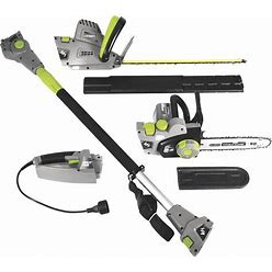 Earthwise 4-In-1 Corded Electric Convertible Pole Hedge Trimmer/Chainsaw - 18Inch L Blade/10Inch Bar And Chain, 120V, 7/4.5 Amp, Model CVP41810
