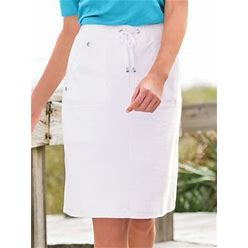 Haymaker Women's Everyday Knit Skort By Haymaker, White XL Misses
