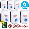 Non-Toxic Environment-Friendly Electronic Plug In Ultrasonic Pest Repeller Home Indoor Mosquito Killer Mouse Mice Reject,6PCS, Size: 3.342.241.06