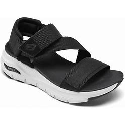 Skechers Women's Arch Fit Arch Support - Casual Retro Walking Sandals From Finish Line - Black