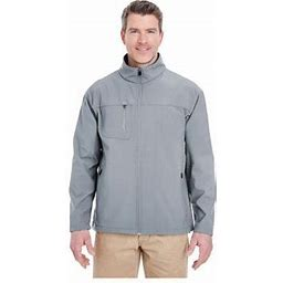 Ultraclub Men's Ripstop Soft Shell Jacket With Cadet Collar, Style 8280, Size: Medium, Gray