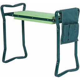 Foldable Garden Kneeler With Handles And Seat - With Tool Pouch - Portable Garden Stool- Regular Size
