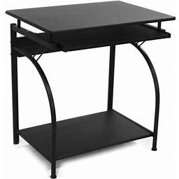 Comfort Products Stanton Computer Desk With Pullout Keyboard Tray, Multiple Colors, Black