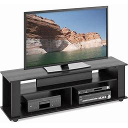 Corliving Bakersfield Ravenwood Black TV Stand For Tvs Up To 65 Inch, Size: 58