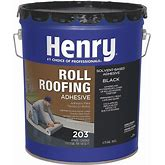 Henry Roll Roofing Adhesive,Black,Matte,5 Gal. Model: HE203071