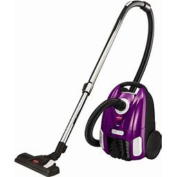 BISSELL Zing Bagged Canister Vacuum Cleaner (2154A), Purple