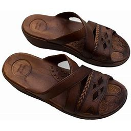 Imperial Sandals Hawaii Womens Comfort And Stylish Hawaii Sandals Brown Slipper (Size L), Women's, Size: 6 T
