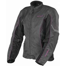 Firstgear Contour Womens Waterproof Jacket Charcoal/Pink, Adult Unisex, Size: XL (XL), Gray