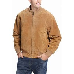 Landing Leathers Men's Wwii Suede Leather Tanker Jacket (Regular & Tall Sizes), Size: Large, Brown
