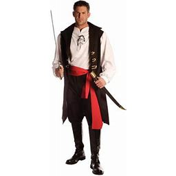 Captain Cutthroat Men's Adult Halloween Costume - One Size 42-46, Multicolor